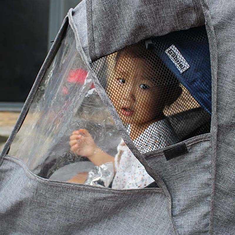 รถเข็นเด็กทารก Multifunctional กันน้ำ Rain Cover รถเข็นเด็กทารก Full เสื้อกันฝนผ้าลินินลมฝุ่น Snow Shield สำหรับรถเข็นเด็ก