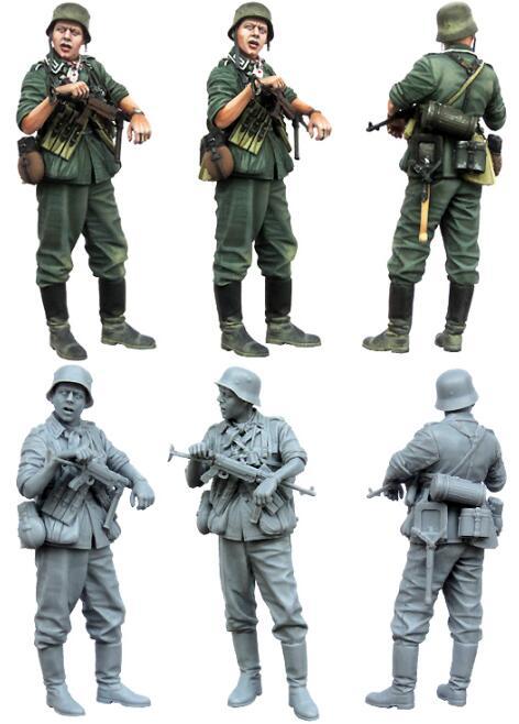 1/35 Resin Figure WWII German Infantryman 1pc Model Kits