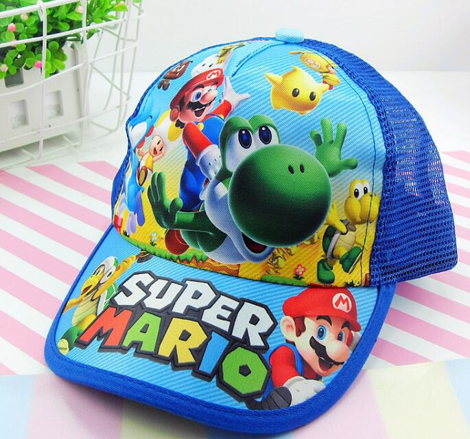 1pcs cartoon Super Mario Fashion Sun Hat Mario Casual Cosplay   Baseball     Cap   children party gifts