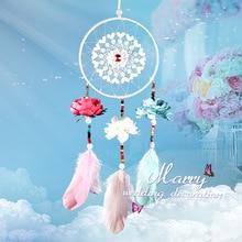 MEMOSTO Dreamcather Wedding decoration handicraft hand woven hollow  out lace dream trap pendant wedding