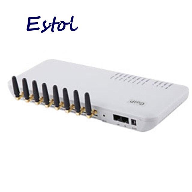 الجملة 8 قنوات GOIP جي إس إم بوابة VOIP لإنهاء ، ودعم VPN و IMEI التغيير والرسائل القصيرة ، منفذ النظام العالمي للاتصالات بالهواتف الجوالة 8 بطاقات SIM منافذ GSM
