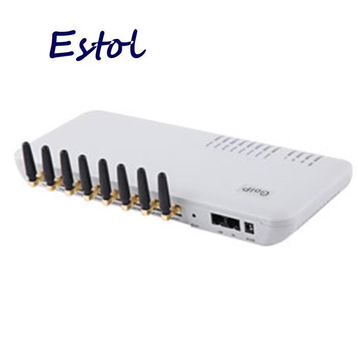 Prix pour En gros 8 Canaux GOIP GSM VOIP passerelle pour résiliation, prise en charge VPN & IMEI changement et SMS, GSM Passerelle 8 cartes SIM gsm ports
