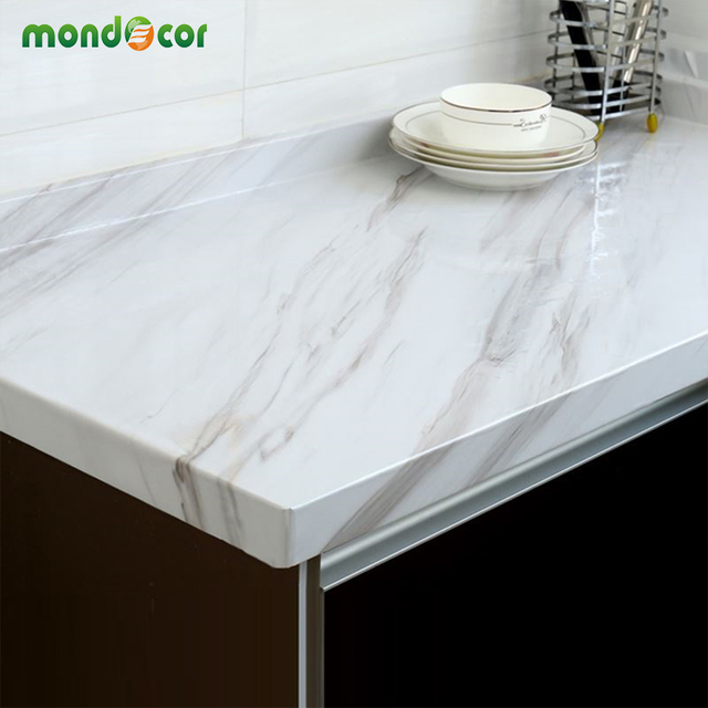 Glossy Marble Contact Paper DIY PVC Vinyl Kitchen Cabinet Counter Top Bathroom  Self Adhesive Wallpaper Home