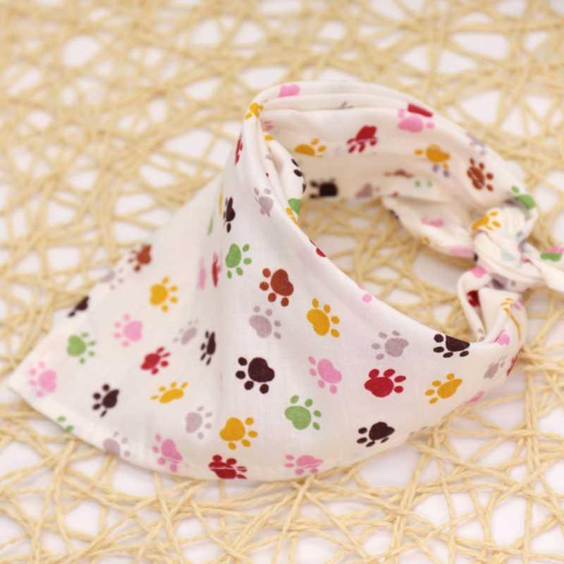 Venta al por mayor de moda perro mascota bufanda Collar cachorro gato algodón Triangular Neckerchief babero Bandana May06