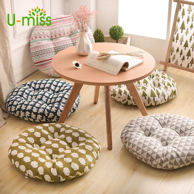 Elegant U Miss Office Chair Printing Round Pillow Hemorrhoid Seat Decor Decoration  For Sofa Meditation Floor