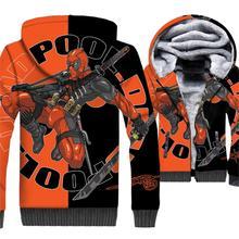 2018 Autumn Winter Fleece Sweatshirts For Men Hip Hop Jacket Male Super Hero Deadpool 3D Pattern Mens Hoodie Harajuku