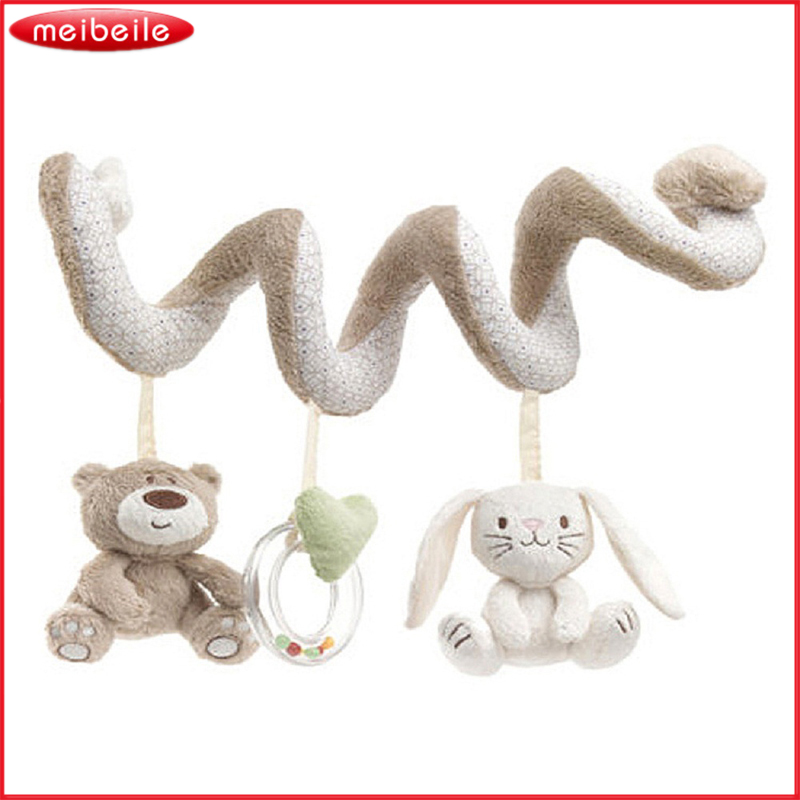 Newborn Baby Cot Spiral Activity Hanging Animal Decoration Stroller Pram Toys 0-24 Months Baby Rattles Toys Mobile For Baby Crib