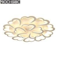 BOCHSBC акриловый абажур потолочный светильник для спальни гостиной столовой Современная сердечная Светодиодная лампа для освещения светиль