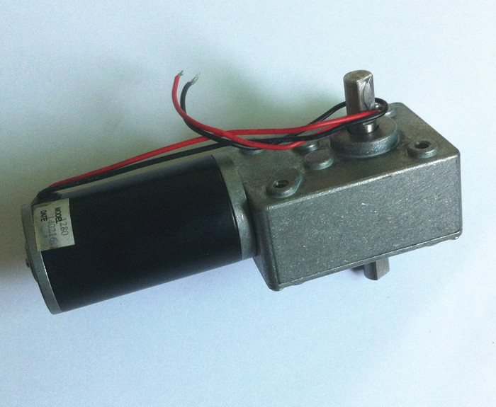 DC 12V 160rpm motor double shaft output worm gear motor, Micro motor with worm gearbox a58sw31zys12 volt 220v powerful dc small motor output shaft gear electric toys 12v permanent generator tubular micro retifica