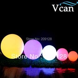 50 سنتيمتر حجم كبير كبير في الهواء الطلق داخلي الألوان تغيير التحكم عن بعد LED الكرة بطارية تعمل أضواء