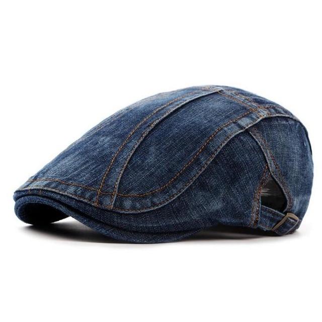 New cowboy Denim beret hat caps men women outdoor sun hat spring summer  ancient visors peaked advance hat Unisex Flat Caps 03e1a6827cd