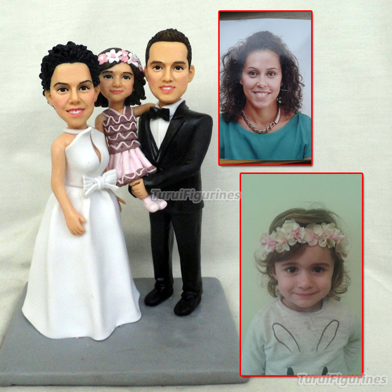 3 People Figurine Design For Family Home Decor Souvenir Valentine's Day Gift For Girlfriend Custom Birthday Cake Topper Present