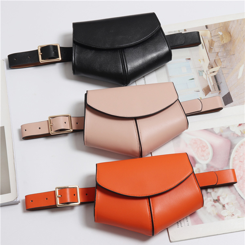 Serpentine Fanny Pack Ladies 2019 New Fashion Women PU Leather Waist Belt Bag Mini Disco Waist Bag Leather Small Shoulder Bags(China)