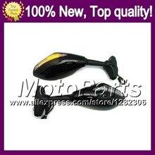 2X Black Turn Signal Mirrors For SUZUKI GSXR1300 96-07 GSXR 1300 GSX R1300 2002 2003 2004 2005 2006 2007 Rearview Side Mirror