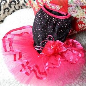 Image 5 - כלב הגעה חדש עלה פרח גזה טוטו שמלת חצאית גור חתול נסיכת בגדי הלבשה שמלת לכלבים כלב תלבושות