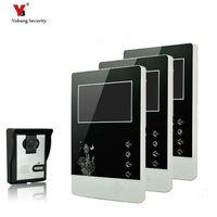 Yobang Security 4.3 Apartment Video Intercom Door Phone Doorbell System IR Camera Touch Key For 3 monitor