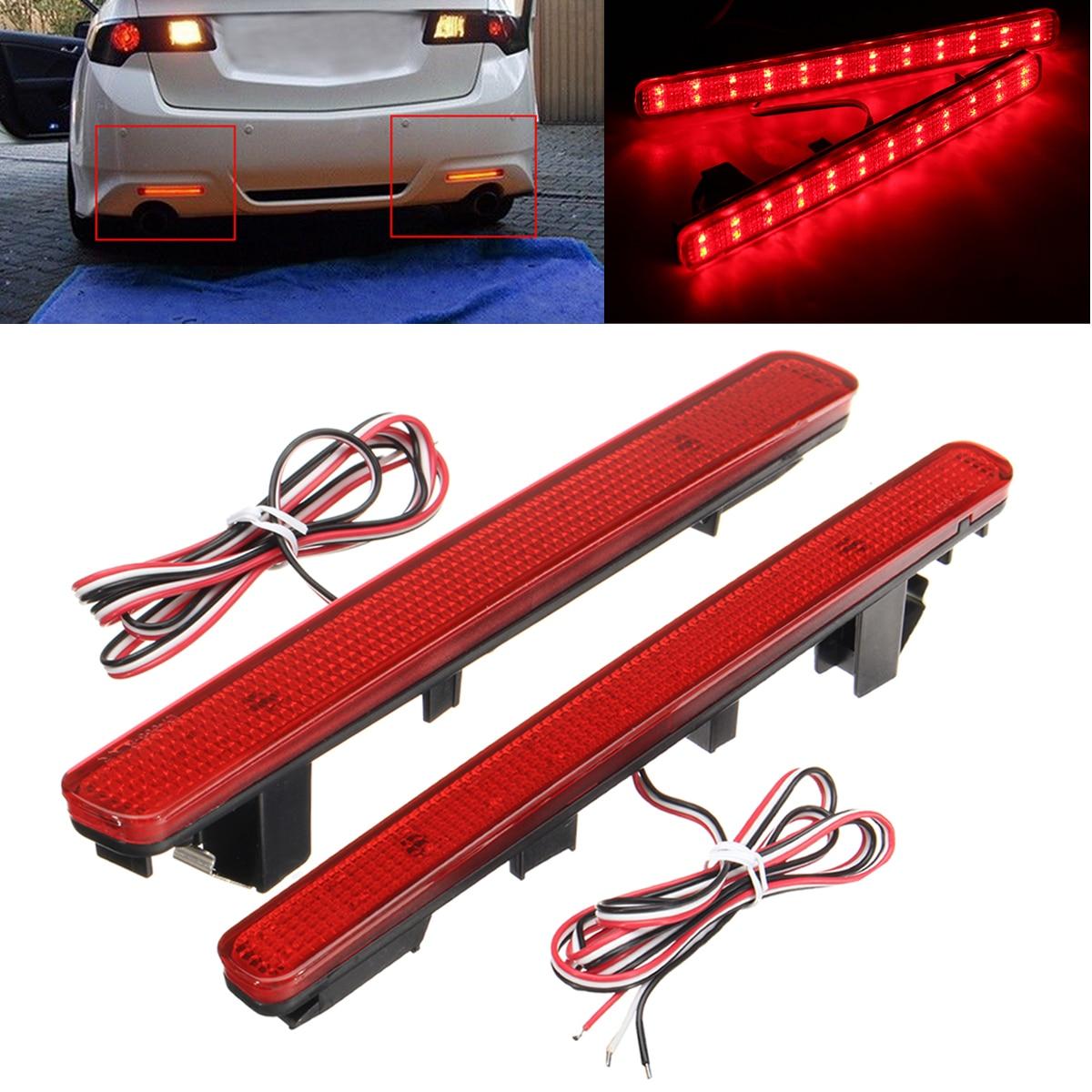 12V LED light Rear Bumper Reflector Tail Stop Brake Light For Acura TSX Sedan 09 14