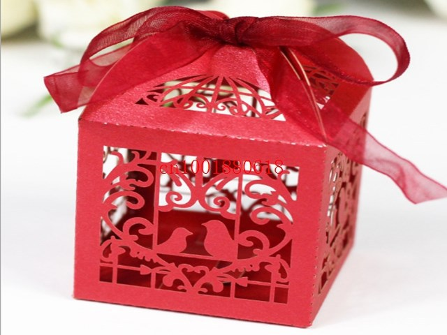 1000pcs Lot Free Shipping Wedding Banquet Mini Candy Boxes Birds Heart Design Sweet Gift Packing