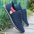 2017 Verão Sapatos Casuais Sapatos Masculinos Preguiçosos Sapatos de Rede Dos Homens Embrulho Pé Respirável Sapatos de Transporte da gota Tamanho 39-46