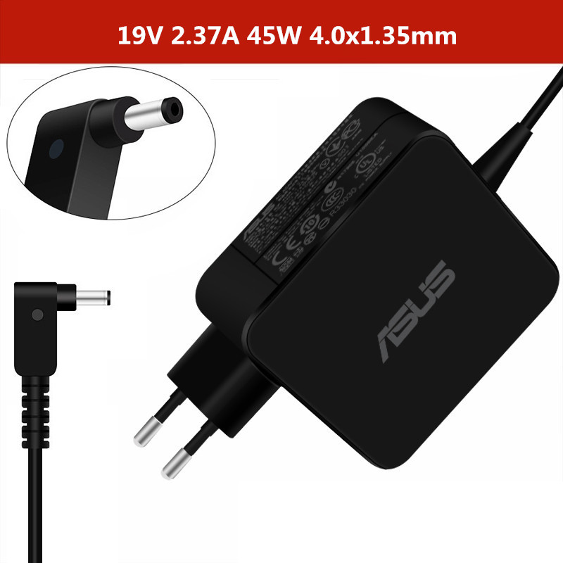 2.37A 45W 4.0x1.35mm Laptop AC Adapter Power Charger For Asus UX21A UX31A UX32A S406U S4000U U310U 7200U U303L U305L T300L U305F
