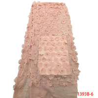 Latest French 3D Lace Fabric Tulle Net Fabric 2017 High Quality African Net Lace Costura Embroidery
