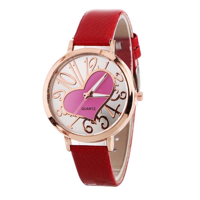 Deskundig Reloj Mujer Damesmode Horloge Populaire Patroon Quartz Horloge Lederen Band Ronde Case Riem Tafel Horloge Ontre Femme M50 Te Koop