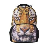 Cool 3D Animal Children Backpack Big Men's Tiger Head Backpacks for Teenage Girls Women Horse Rucksack Felt Laptop Backbag