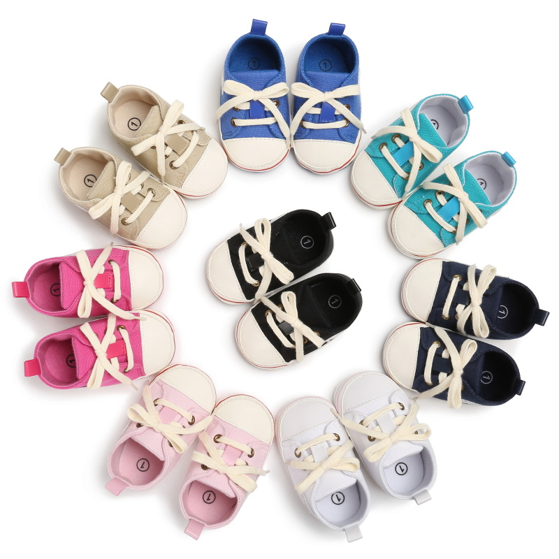 Spring And Autumn 0-1 Years Old Men And Women Baby In The Tube Rubber Bottom Casual Baby Toddler Shoes