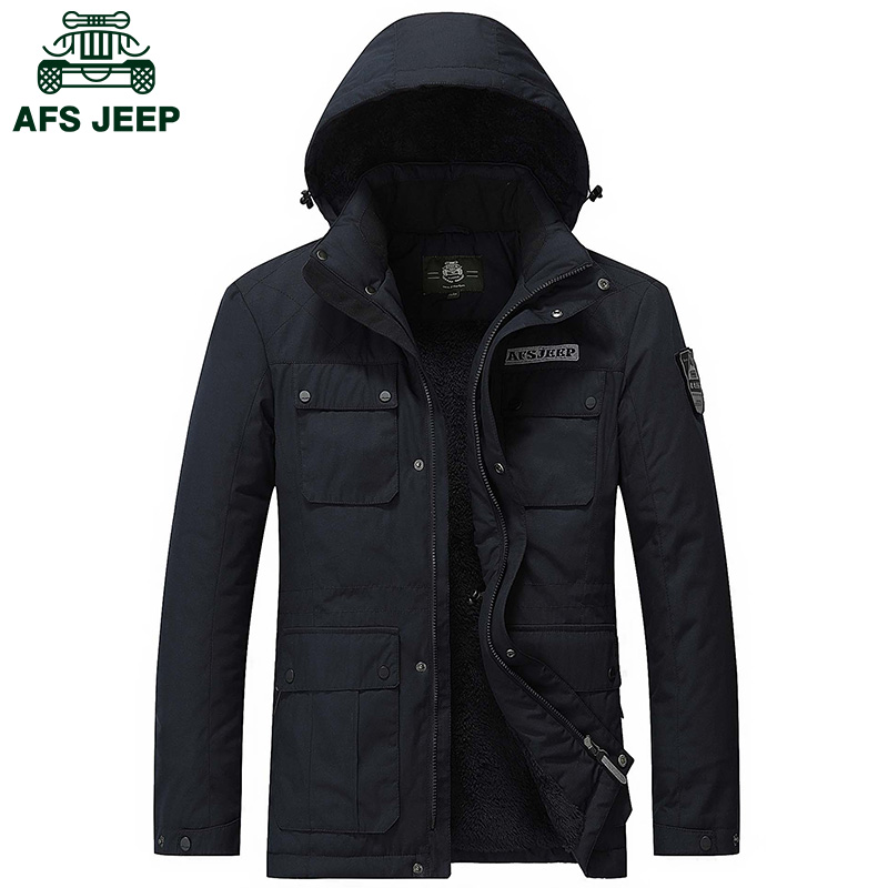 2016 New arrival mens fur parka brand-clothing AFS JEEP mens parka jacket high quality mens winter jackets military parka men