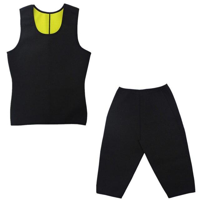 Neoprene Workout Body Natural Weight-Loss Shaper Belt Vest Pant Suit Men Sauna Sweat Vest Belts Shapers Slimming Plus Pants 2