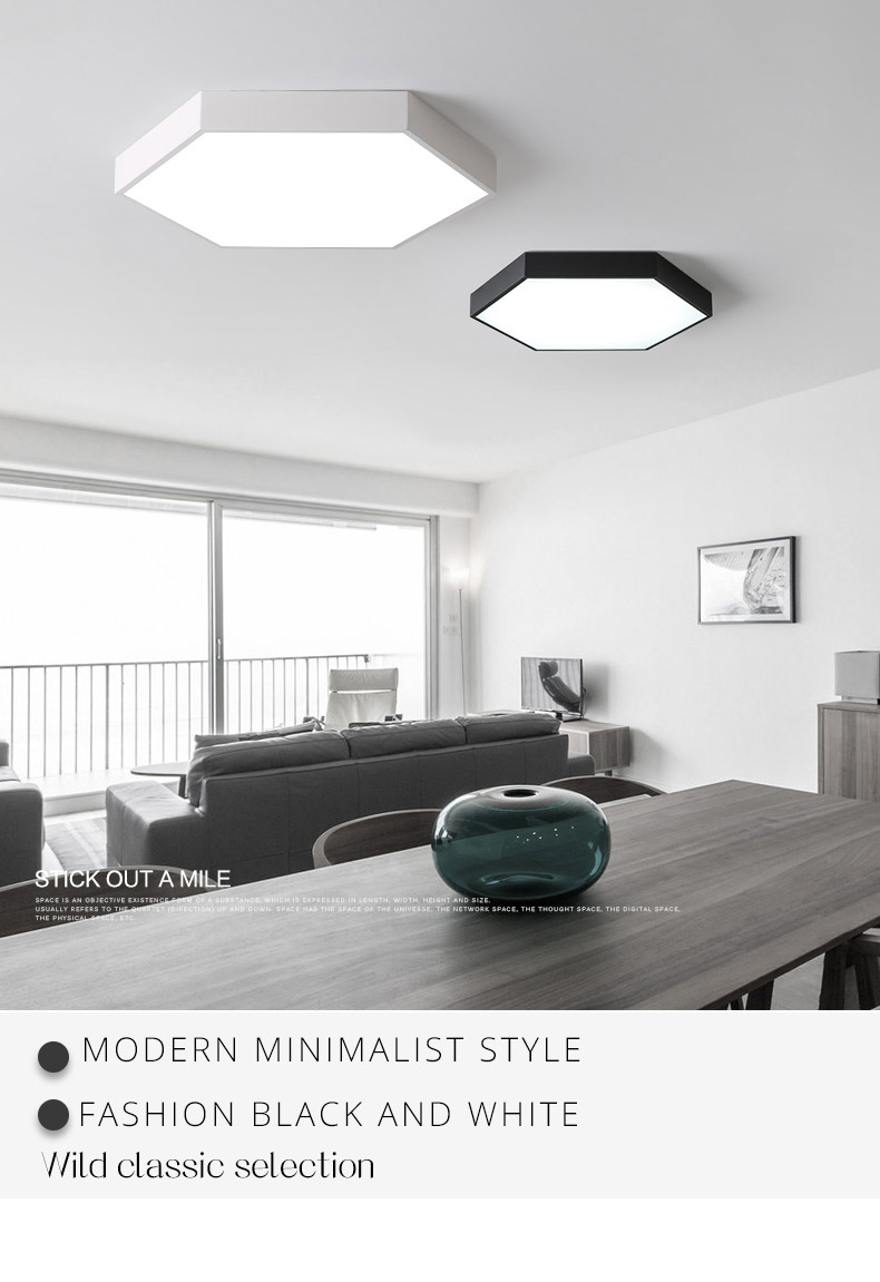 DX Ultra-Thin Hexagon Ceiling Lights (7)