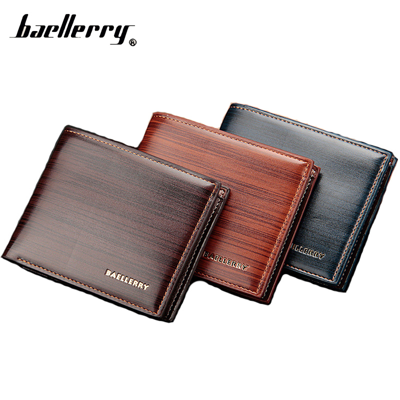 Baellerry Short Thin Slim Small Money Men Wallet Male Purse Cuzdan For Card Baellery Portomonee Walet Perse Vallet Carteras Bag