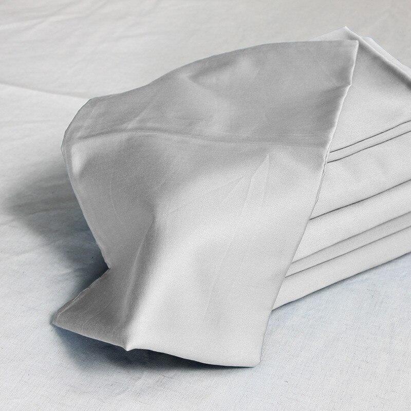 100% pościel z egipskiej bawełny 1200 TC biały światła szary beżowy szary kolory poszewki na poduszki 40x60 cm 4 sztuk zestaw pościeli dostosowywanie w Poszewka na poduszkę od Dom i ogród na  Grupa 1
