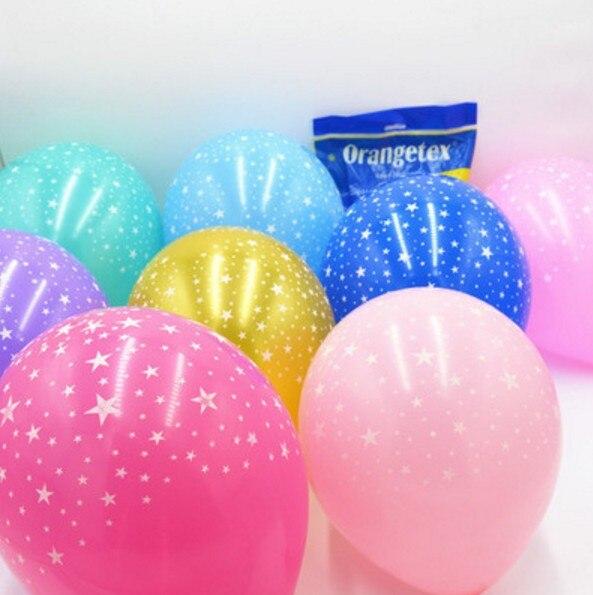 Ynaayu 10pcs / set Latex baloni 10inch večbarvne zvezde okrogli - Prazniki in zabave