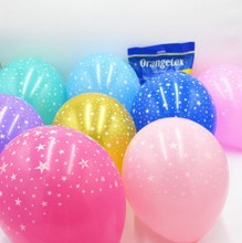 Ynaayu 10pcs/set Latex Balloons 10inch Multicolor Stars Round For Birthday Decoration Wedding Party Supplies