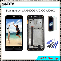 Sinbeda 5 0 Tela For ASUS Zenfone 5 A500CG A501CG A500KL T00J T00F T00P LCD Display