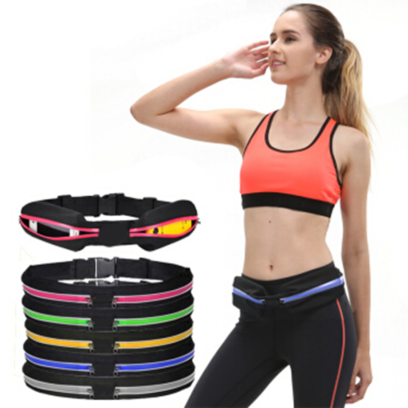 Zipper Bag Sports Bag Running Waist Bag Pocket Jogging Portable Waterproof Cycling Bum Bag Outdoor