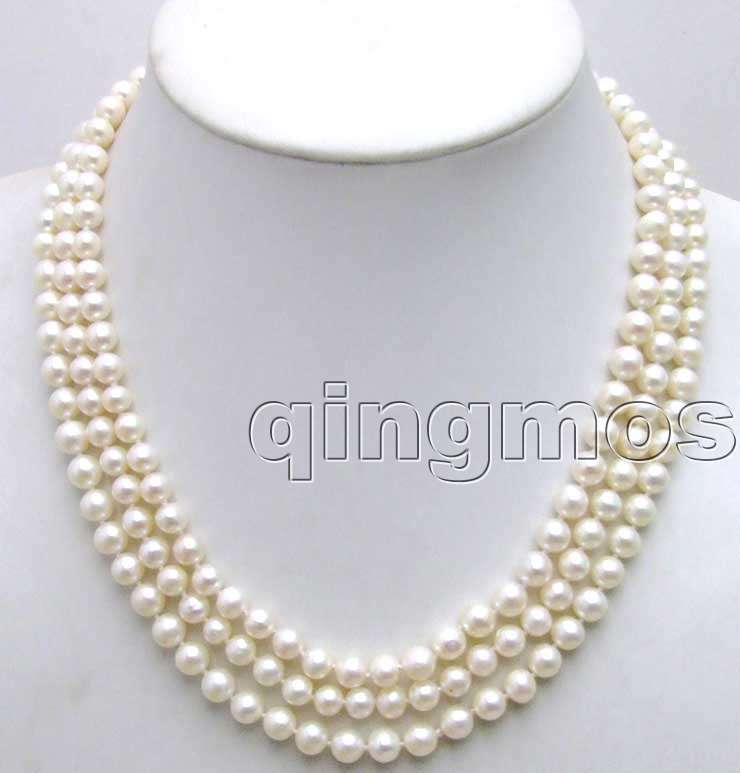 Vente 6-7mm rond naturel blanc perle 18-20