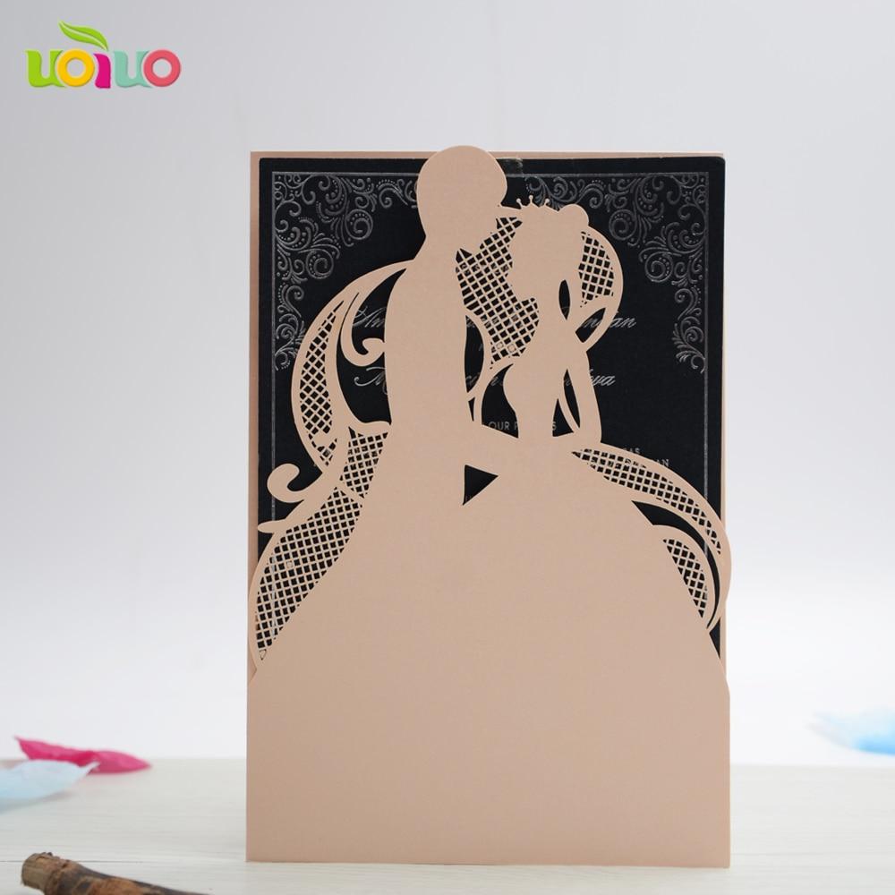 carte d invitation de mariage de fiancailles en papier decoupe au laser en anglais