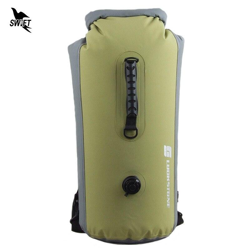 25-60L Professional IPX7 Waterproof Swimming Bag 2019 Inflatable Snorkeling Rafting Drifting Diving Dry Bag Backpack Stuff Sack