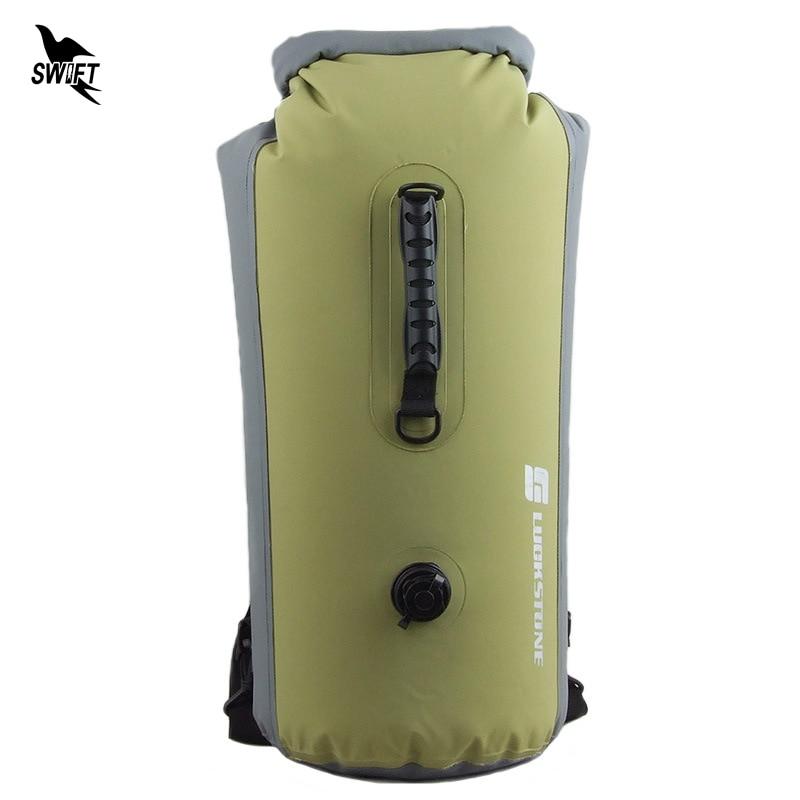 25 60L Professional IPX7 Waterproof Swimming Bag 2019 Inflatable Snorkeling Rafting Drifting Diving Dry Bag Backpack