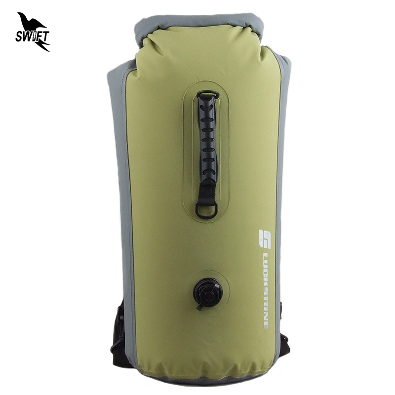 25 60L Professional IPX7 Waterproof Swimming Bag 2019 Inflatable Snorkeling Rafting Drifting Diving Dry Bag Backpack Stuff Sack
