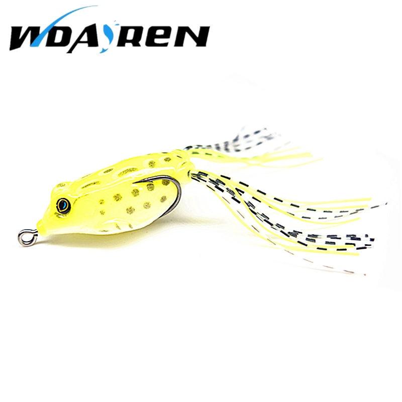 WDAIREN 5.5CM 8G soft tube bait japan plastic fishing lures frog lure treble hooks Topwater ray frog artificial soft bait FA-361