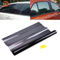 POSSBAY 50x600cm Car Window Tint Film Glass 25% VLT UV proof Sun Shade Solar Protection Curtains Black Films
