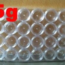 144 шт./лот 5 г, прозрачная банка, пластиковая упаковка, пробный горшок для крема, блестящий чехол для порошка для дизайна ногтей