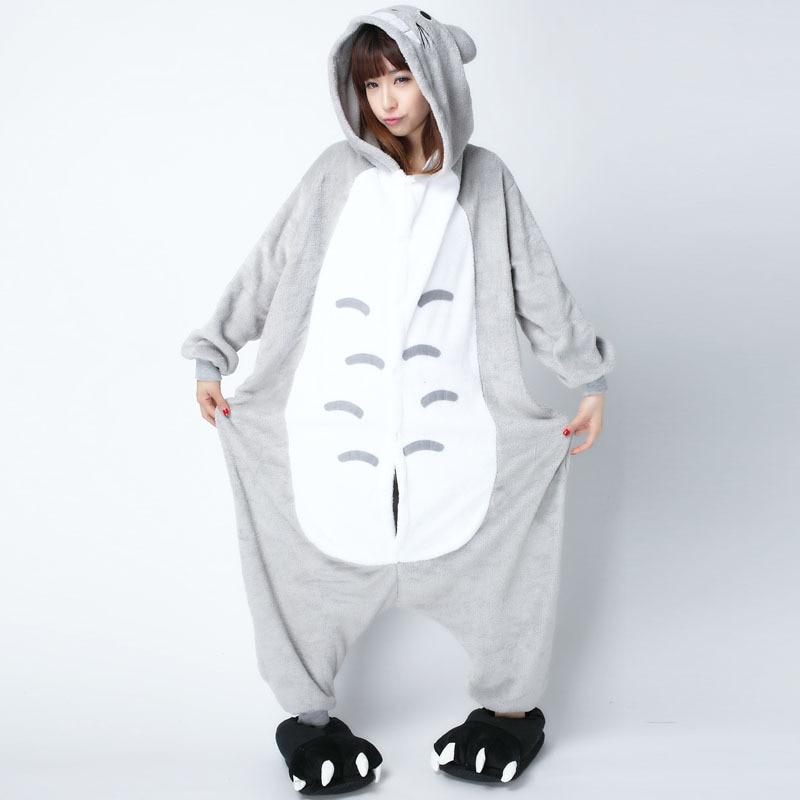 XXL Size Cartoon Totoro Onesie For Women Men Pajamas Night suit Set At Home Sleep Adult Kigurumi For Halloween Cosplay Party|  - title=