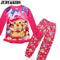 Pokemon Go Pajamas Sets For Girls Clothes Autumn Winter New Pikachu Printing Kids Clothing Suits Cartoon Christmas Cotton Pink
