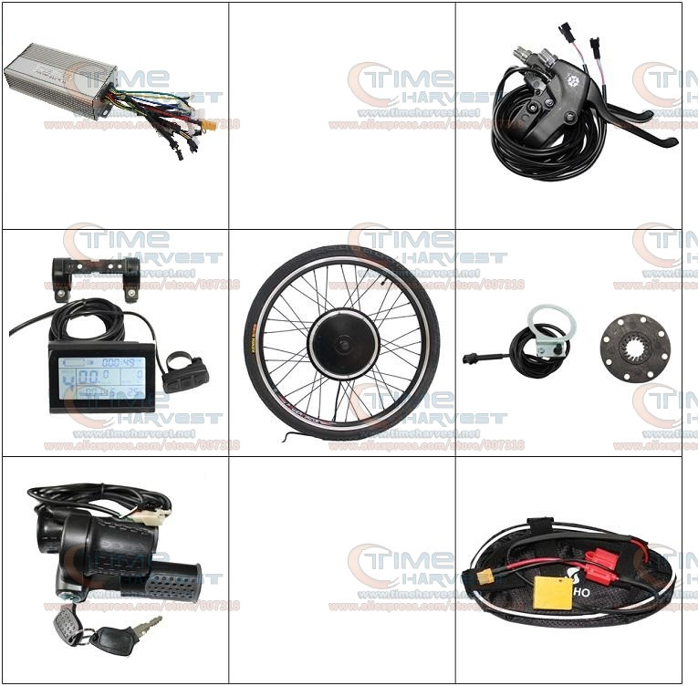 400W 24V DIY Electric mountain bike motor 26 Front Wheel Driving Electric Bicycle Modification Kit With LCD Electric Meters electric bicycle motor 24v 250w e bike brushed motor 250w electric bike kit electric bike conversion kit light e v e bike motors
