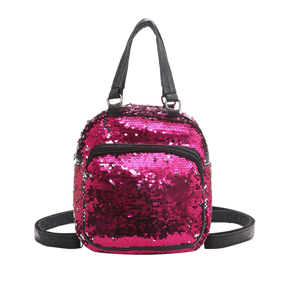 Fashion Women Travel School Sequined Small Backpack Tote Crossbody Shoulder Bag Fashion Women Travel School Sequined Small Backpack Tote Crossbody Shoulder Bag