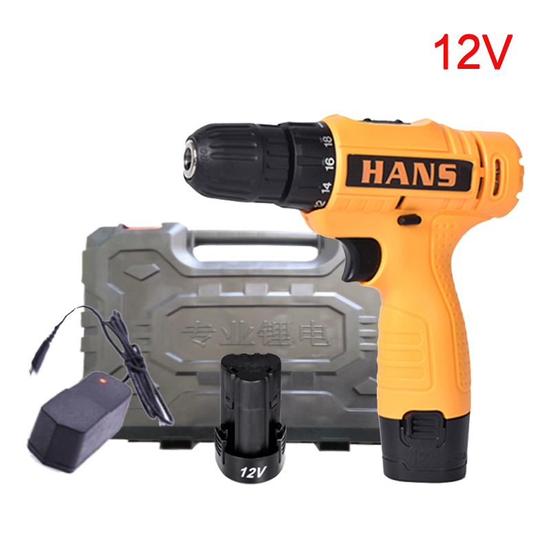 12V Electric Screwdriver Lithium Battery Rechargeable Parafusadeira Furadeira Multi-function Cordless Electric Drill Power Tools 12v 1300rpm electric screwdriver li battery rechargeable multi function 2 speed cordless electric drill power tools box